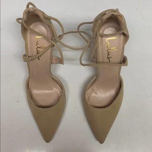 Lulus size 6 heels beige GUC